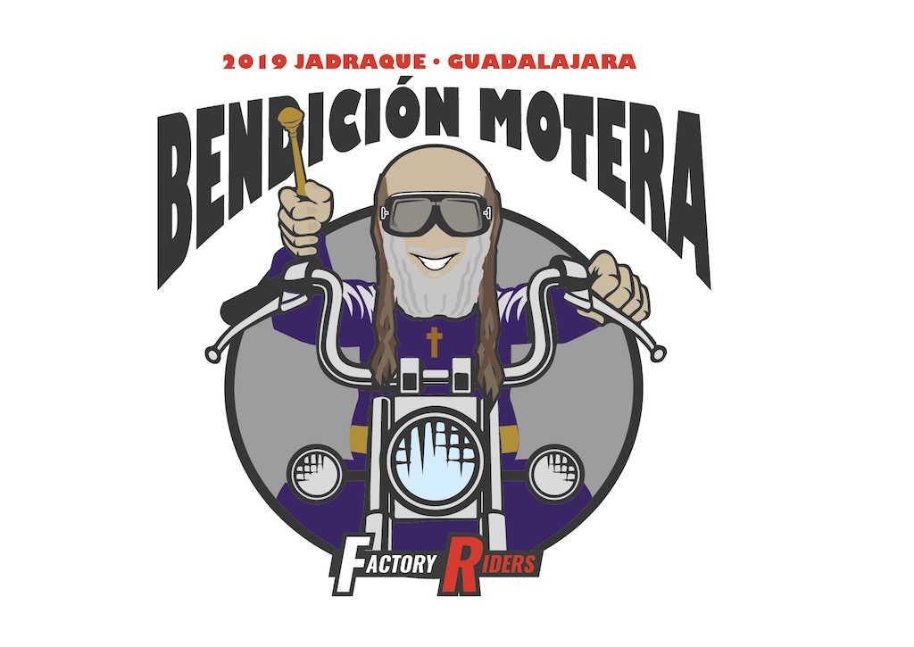 Logotipo Bendicion Motera Factory Riders - Estudio Diseño Málaga